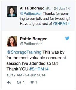 Shorago Training Systems testimonial on Twitter